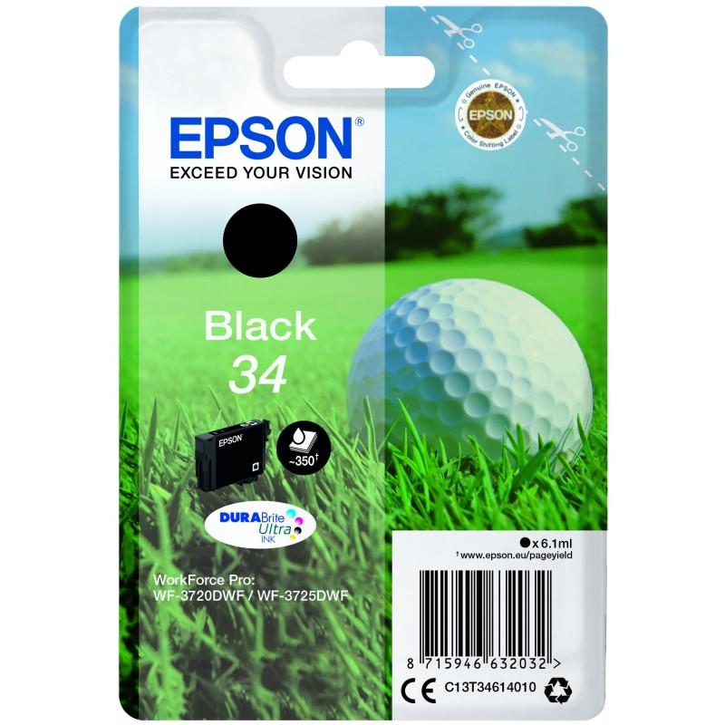 Epson 34 black golfball ink cartridge