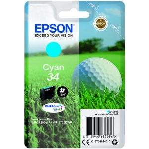Epson 34 cyon golfball ink cartridge