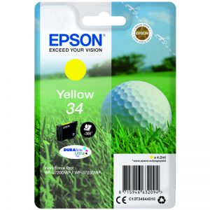 Epson 34 yellow golfball ink cartridge
